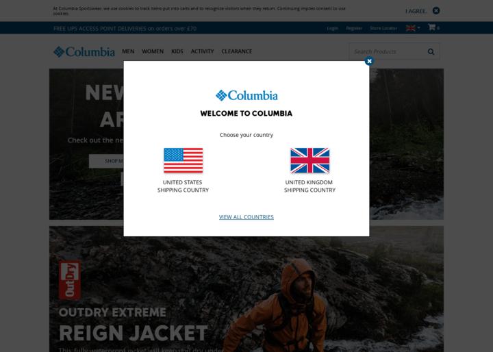 screenshot Columbia